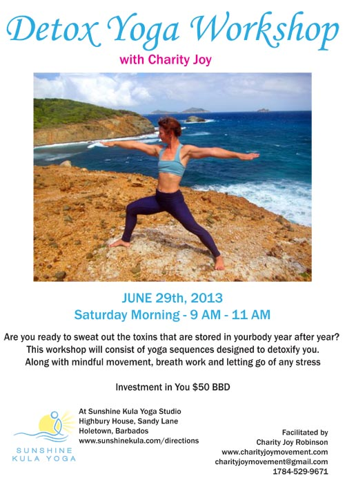 Detox Yoga Workshop With Charity Joy Final