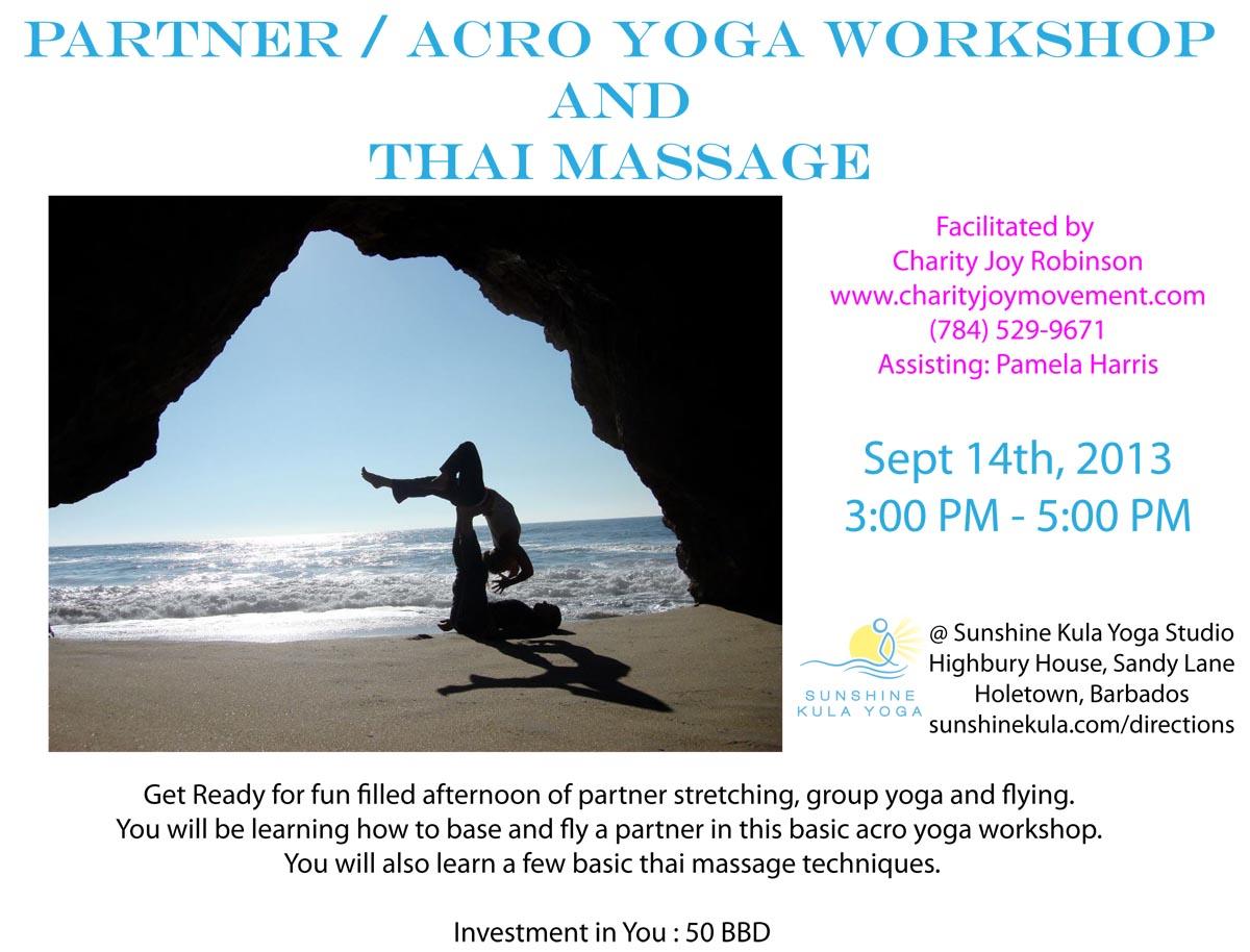 Yoga in Barbados - Partner / Acro Yoga Workshop and Thai
