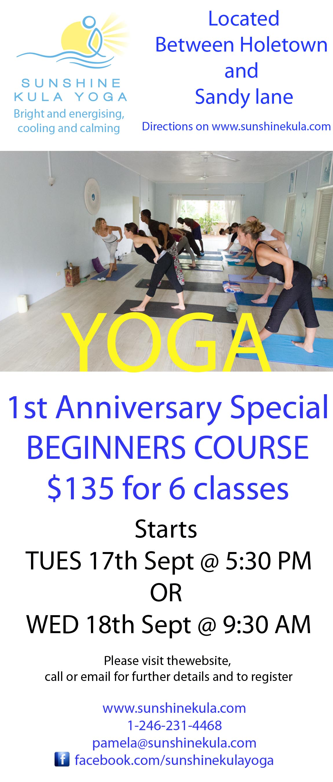 Yoga In Barbados First Anniversary Special Beginners Course Circuit Training For Sunshine Kula Web