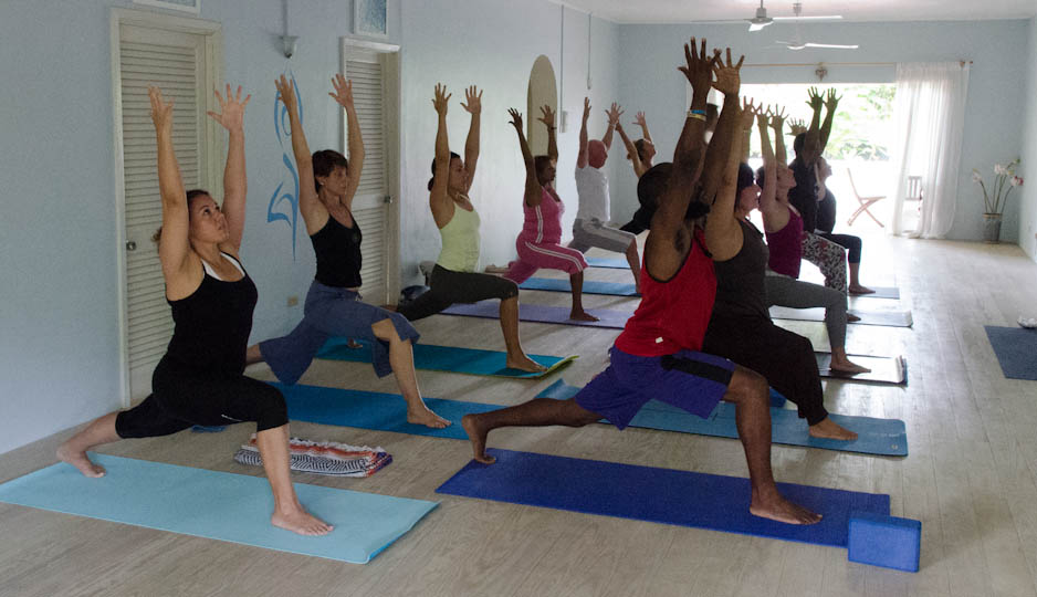 Yoga in Barbados with Sunshine Kula In Studio 1
