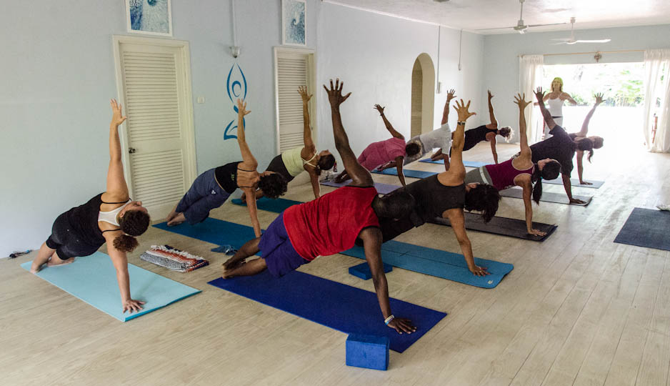 Yoga in Barbados with Sunshine Kula In Studio 2